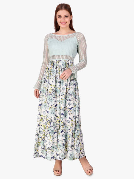 Texco Lace Women Maxi Dress - Fashiano