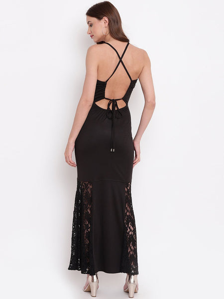 Texco Women Lace Styled Back Cocktail Party Dress - Fashiano