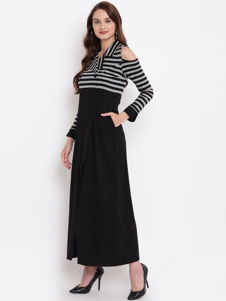 Texco Women Striped Tuxedo Blazer Dress - Fashiano