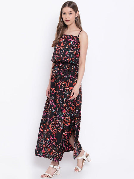 Texco Women  Printed Slip Maxi Dress - Fashiano