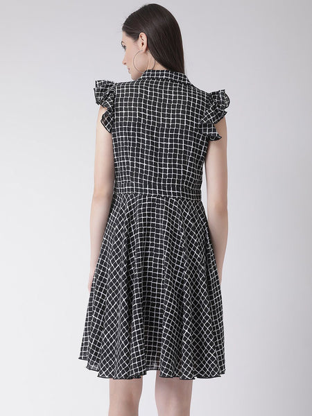 Texco Women  Checked Shirt Dress - Fashiano