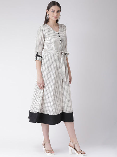Texco Women  Checked Dress - Fashiano