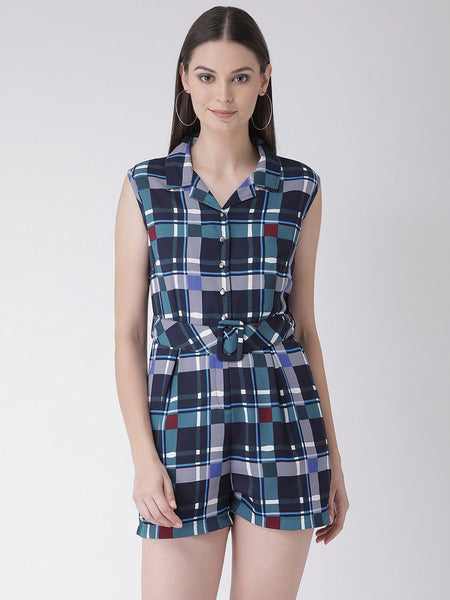 Texco Women  Checked Jumpsuit - Fashiano