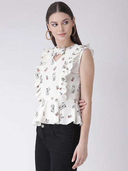 Texco Women  Cut-Out detail Peplum Top - Fashiano