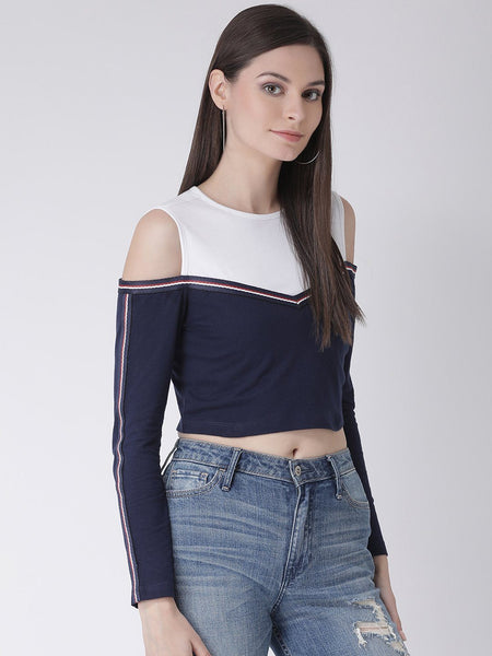 Texco Women  Color Block Crop Top - Fashiano