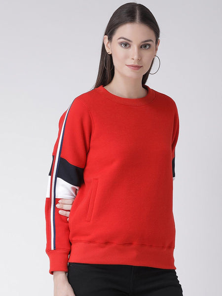 Texco Women Red Sweatshirt - Fashiano