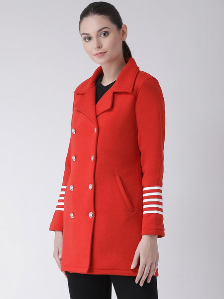 Texco Women Double Breasted Stylish Coat - Fashiano