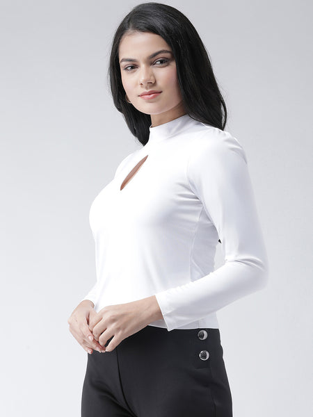 Texco Women  Cut-out Full Sleeves Top - Fashiano