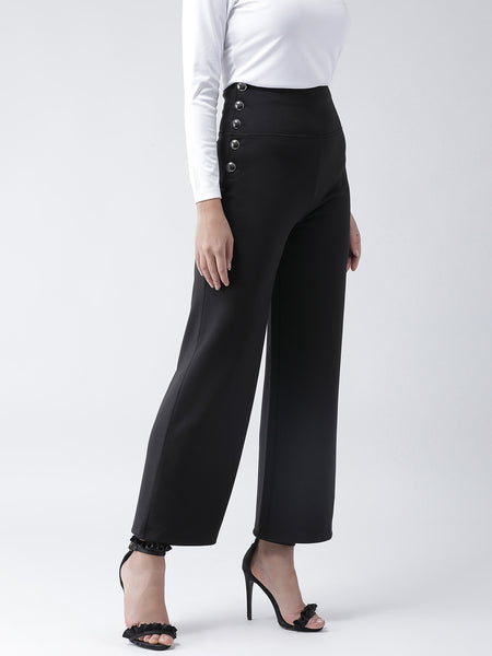 Texco Women  Side Buttoned Detail Culottes - Fashiano
