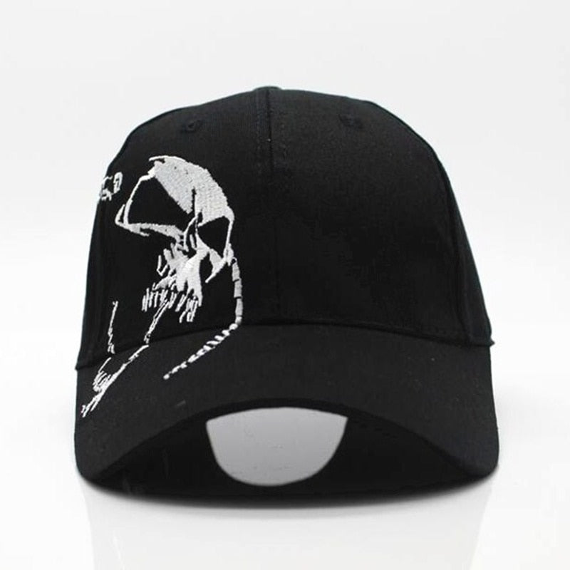 ce466d7a60b 2018 High Quality Unisex 100% Cotton Outdoor Baseball Cap Skull Embroidery Snapback  Sports Hats For