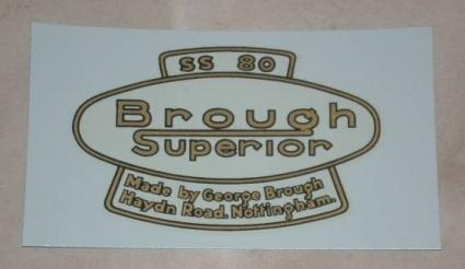 Transfer Brough Superior SS80, 1928 on