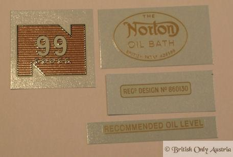 Norton Model 99 1956-63 Transfer Set