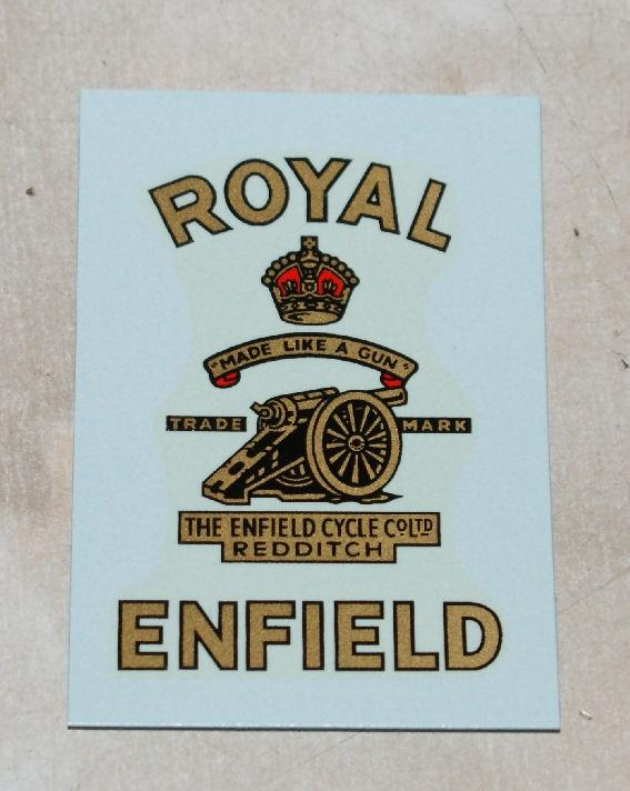 Royal Enfield Transfer for Toolbox/Tank Top 1955 on