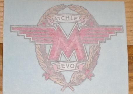 Matchless Sticker for Side Cover Harris Matchless 1987 big