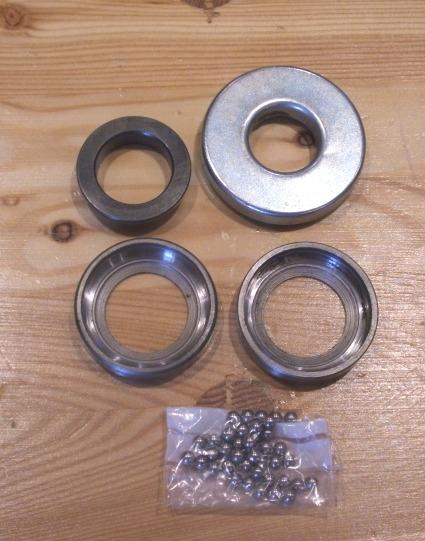 BSA/Triumph Steering Head Cup, Cone & Ball Set