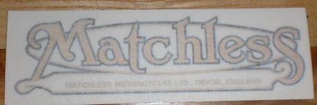 Matchless Devon Sticker for Rear Mudguard 1987