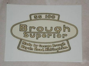 Transfer Brough Superior SS100, 1928 on
