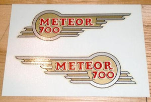 Royal Enfield Meteor 700 Transfer for toolbox Mid 50's /Pair