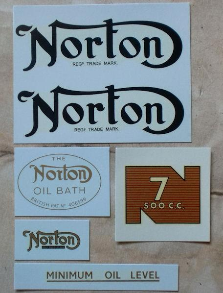 Norton Model 7 1953-55 Transfer Set