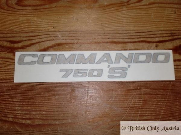 Norton Commando 750 'S' Sticker 1969
