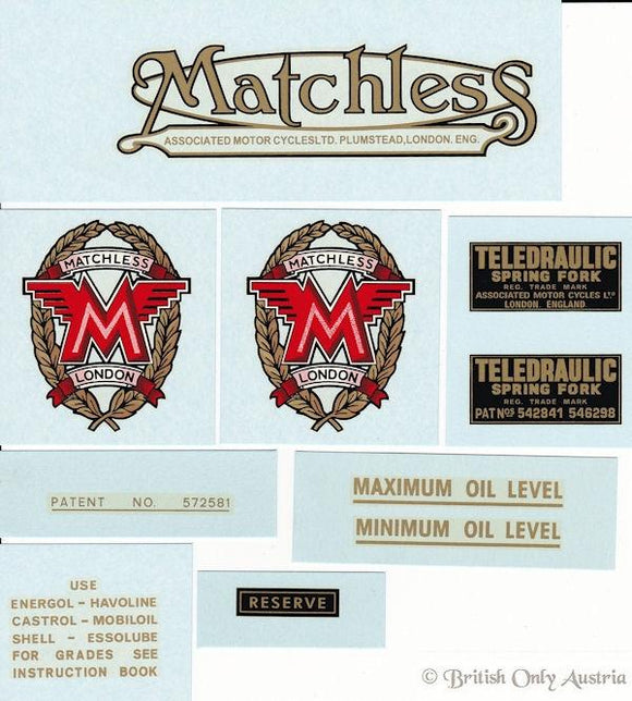 Matchless 1966 G12 CSR Transfer Set