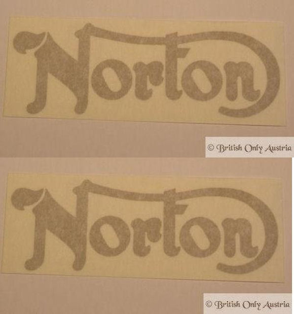 Norton (Commando 750/850) Tank Sticker, Gold /Pair