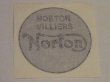 Norton Villiers Tank Sticker for Commando 1968
