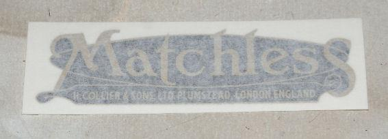 Matchless Sticker for Tank 1930's