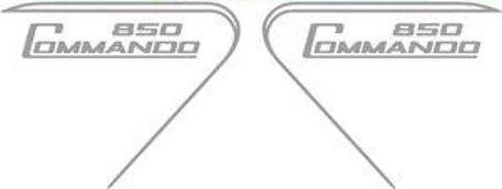 Norton Commando 850 Sticker for Side Panel /Pair silver