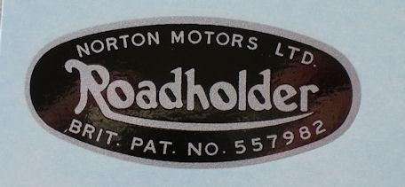 Norton Roadholder Transfer for Front Forks, all models