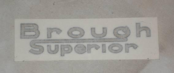Sticker Brough Superior Logo, all years