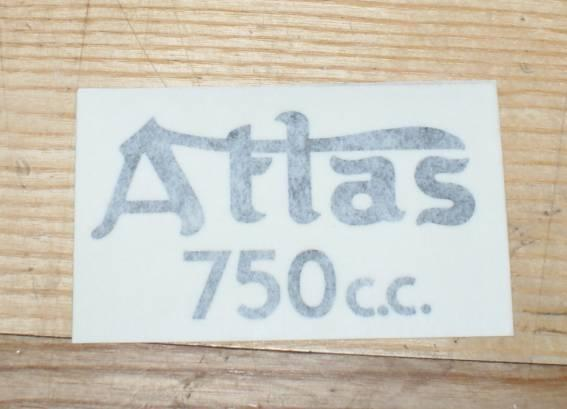 Norton Atlas 750 cc Tank Top Sticker 1962/68