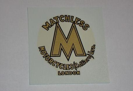 Matchless Motorcycles (Colliers) London Tank Top Transfer 1930-34