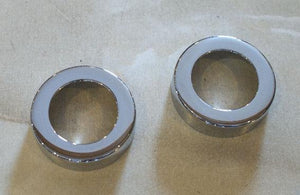AJS/Matchless Bottom Fork Cover Tube Caps / Pair
