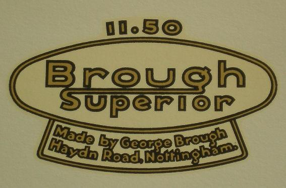 Transfer for Tank Top Brough Superior 1150, 1933/40