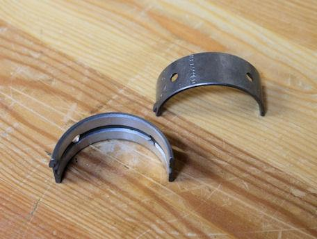 AJS/Matchless Centre Web Bearing Shells / Set -50