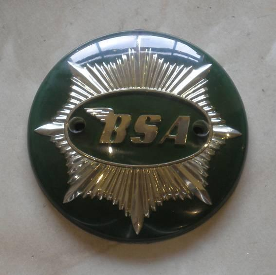 BSA A7 Shooting Star Tankemblem green/gold