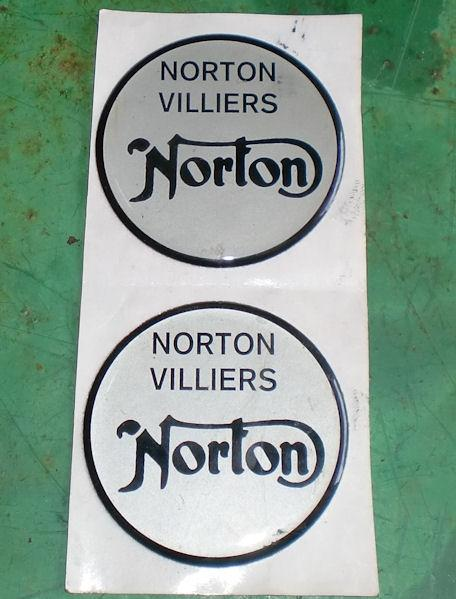 Norton / Villiers Stick on Badges NOS