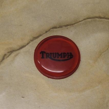 Triumph Petrol Tank Grommet Badge Red / Black Logo