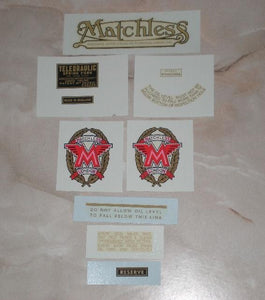 Matchless Transfer Set 500cc G80 1948-50