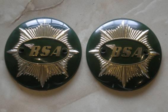 BSA Tank Badge A7 Shooting Star /Pair Green/Gold