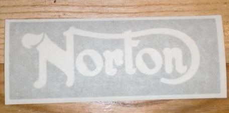 Norton Stencil Sticker for Seat
