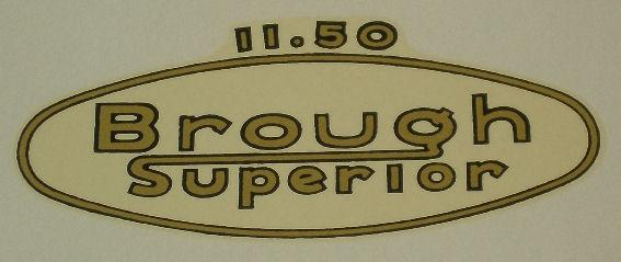 Brough Superior 1150 Transfer 1933 on