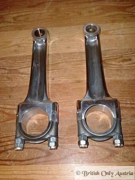 Triumph 5T, TR5, T100 Conrod with Small Bearing Crank 500cc pre unit / Pair