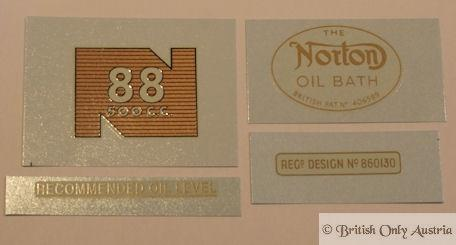 Norton Model 88 500cc 1956-63 Transfer Set