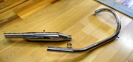 AJS/Matchless Exhaust G3L Pipe/Silencer/Set 1949- 350cc Rigid, Alloy Head 1 1/2