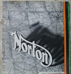 "Norton ""Abridged Price List of 1938 Models"""