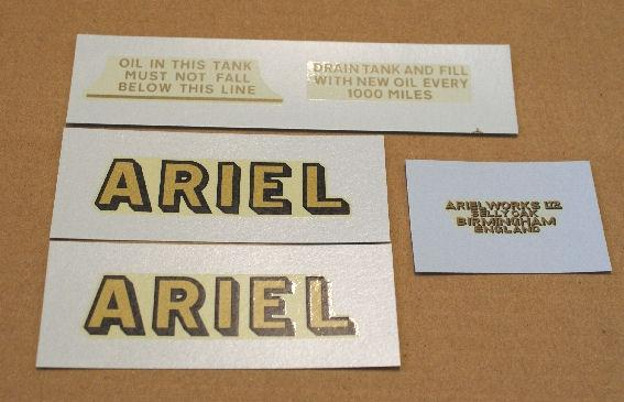 Ariel Transfer Set for Military 1935-39