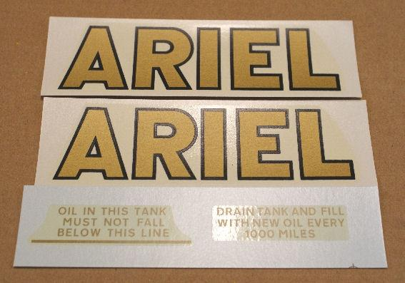 Ariel Transfer/Sticker Set for Red Hunter 1933