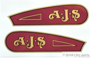 AJS Tank Sticker 1929 Pair